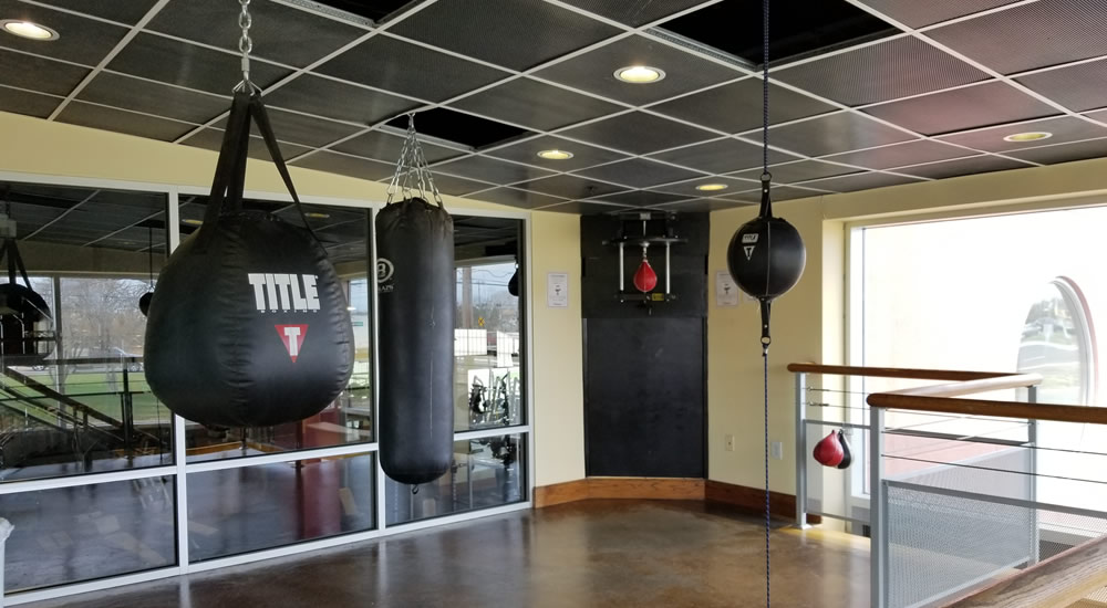 Boxing room at Vive Fitness, NJ