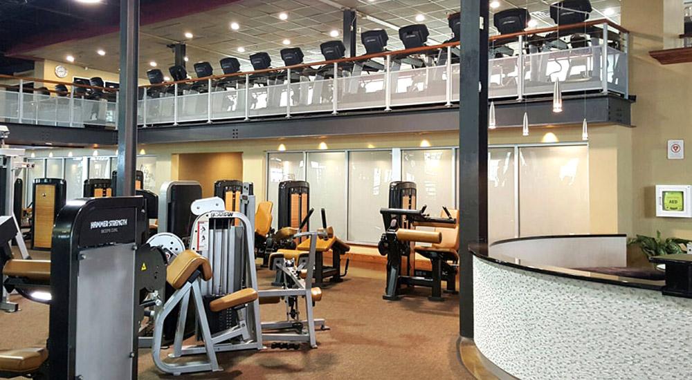 Gym floor at Vive Fitness, NJ